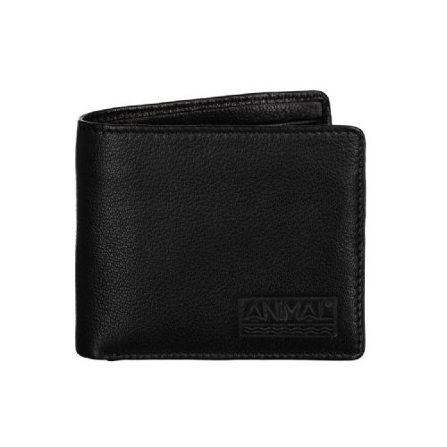 ANIMAL MENS REAL LEATHER WALLET.TURMOIL BLACK COIN CREDIT CARD MONEY PURSE 8W 14